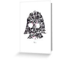 21 Darth Vaders Greeting Card