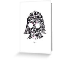 21 Darth Vaders Greeting Card