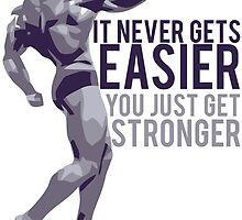 It never gets easier. You just get stronger. by Alan Craker