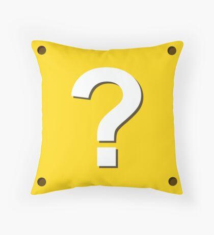 Mario Question Box Throw Pillow