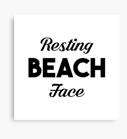 Resting Beach Face Canvas Print