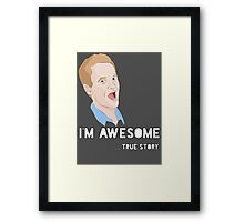 Barney - I'm Awesome. Framed Print