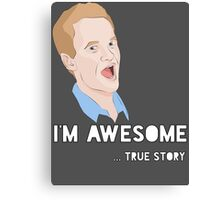 Barney - I'm Awesome. Canvas Print