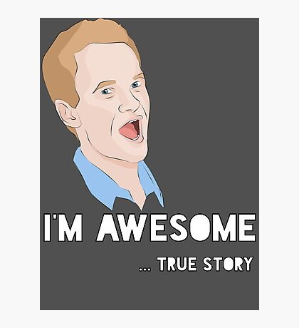 Barney - I'm Awesome. Photographic Print