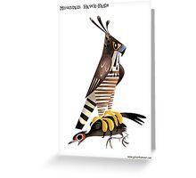 Mountain Hawk-Eagle caricature Greeting Card