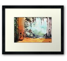 Meeting on a date Framed Print