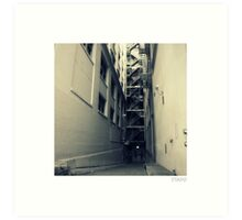 Industrial Alley in Spain Art Print