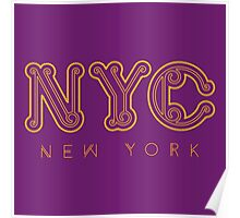 NYC New York City Poster