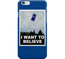 """I Want To Believe"" Police Public Call Box version.  iPhone Case/Skin"