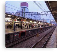 Station – Japanese Trains Canvas Print