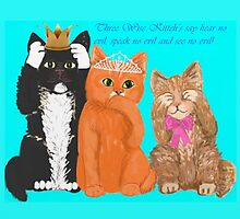 Three Wise Kitteh's message to the world! by MagentaRoseUK