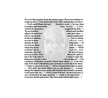 Star Trek Deep Space Nine - Quotes of Worf Photographic Print