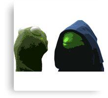 Evil Kermit & Kermit Canvas Print