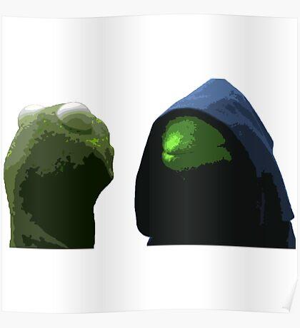Evil Kermit & Kermit Poster