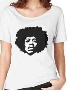Jimi Hendrix Outline Women's Relaxed Fit T-Shirt