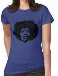 Jimi Hendrix Outline Womens Fitted T-Shirt