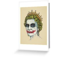 God Save the Villain Greeting Card