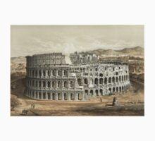 Vintage Painting of the Roman Coliseum Kids Tee