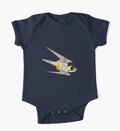 Peregrine Falcon diving caricature One Piece - Short Sleeve