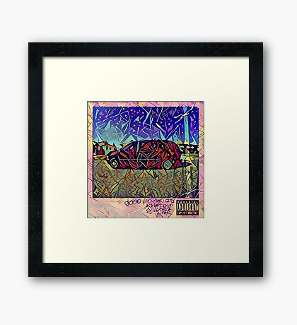 Abstract Good Kid Maad City Framed Print