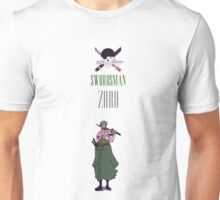 SWORDSMAN ZORO ONE PIECE Unisex T-Shirt