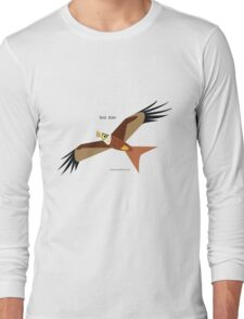 Red Kite caricature Long Sleeve T-Shirt