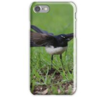 Wings Out Willie Wagtail iPhone Case/Skin