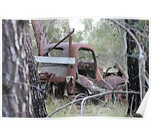 Rusty Truck in the Trees Poster