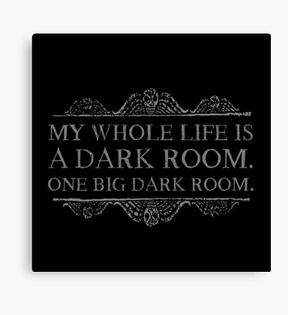 One big dark room. Canvas Print