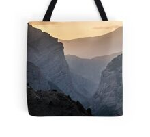 Coucher de soleil dans le Pamir Tote Bag