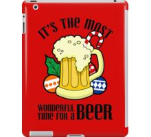Christmas It's The Most Wonderful Time For A Beer Design iPad Case/Skin