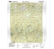 USGS TOPO Map California CA White Chief Mountain 102154 2004 24000 geo Poster