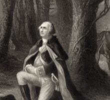 George Washington Praying Sticker