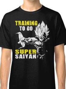 Training To Go Super Saiyan (Vegeta Hardcore Squat) Classic T-Shirt