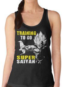 Training To Go Super Saiyan (Vegeta Hardcore Squat) Women's Tank Top