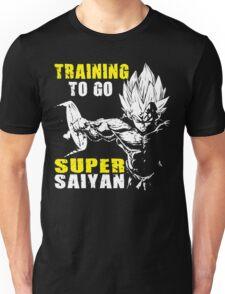 Training To Go Super Saiyan (Vegeta Hardcore Squat) Unisex T-Shirt