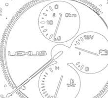 Lexus is300 gauges Sticker