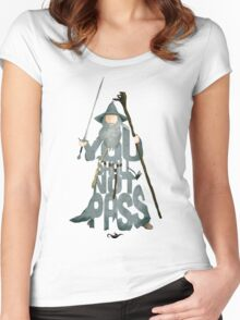 Gandalf The Grey You Shall Not Pass Women's Fitted Scoop T-Shirt