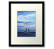 Boston Harbor Sail Framed Print