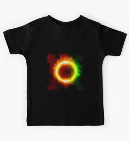 Space background with a star Kids Tee