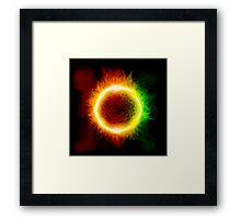 Space background with a star Framed Print