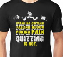 Quitting Is Not Acceptable - Saiyan Back Squat Unisex T-Shirt
