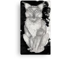 Creepy Cat Canvas Print