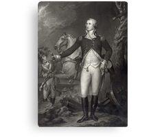 George Washington on the Battlefield Canvas Print