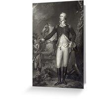 George Washington on the Battlefield Greeting Card