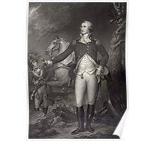 George Washington on the Battlefield Poster