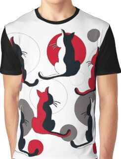 Abstract red cats  Graphic T-Shirt