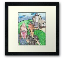 You don't want to be dead. Framed Print