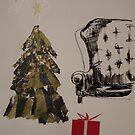 Golden Christmas tree by Catrin Stahl-Szarka