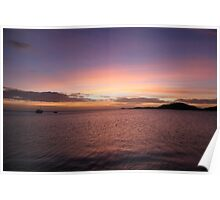 Purple Sunset, Seisia, Cape York Poster